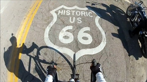 Route 66 by bicycle