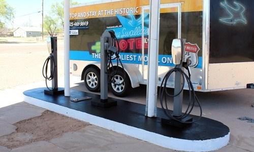 Tesla charging station added near Blue Swallow Motel