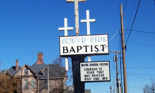 Route 66 inspires restoration on historic church sign