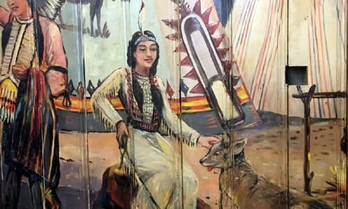Museum unearths Red Chief Motel diner mural