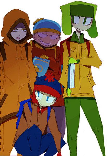 South Park Anime Kenny X Kyle Anime/manga style south park