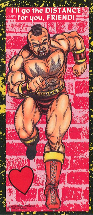 Zangief - Street Fighter 2 Valentine's Day Cards