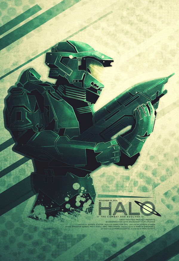 Halo Poster by Ron Guyatt