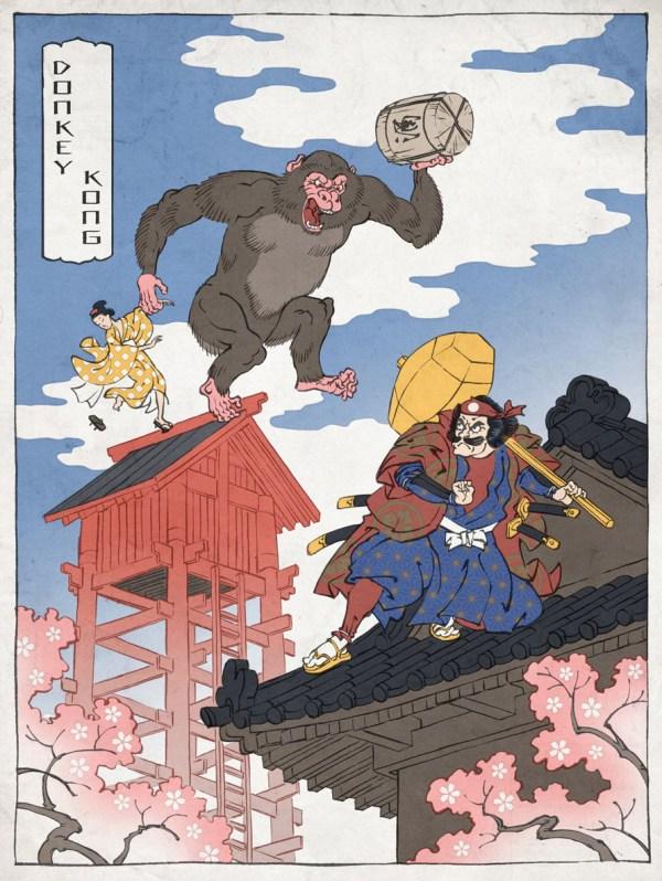 Samurai Donkey Kong by Jed Henry