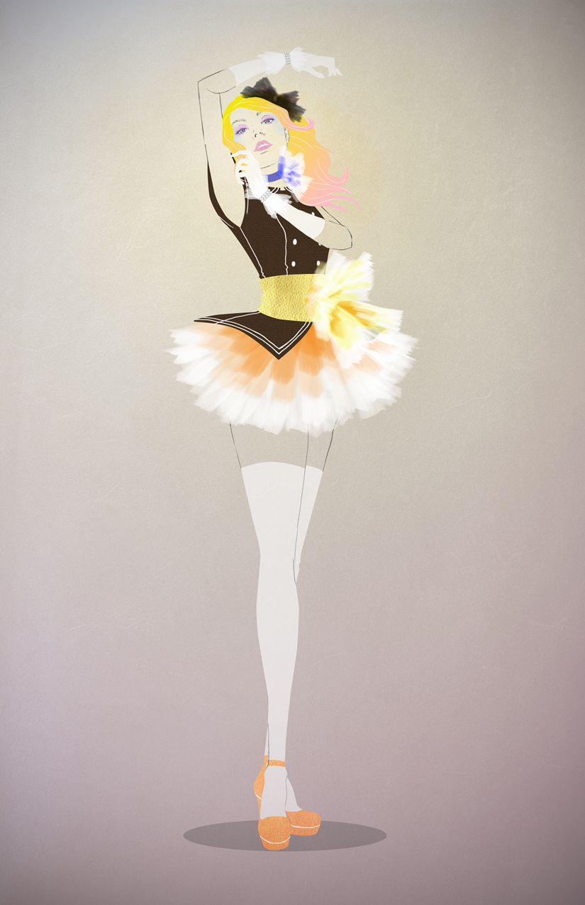 Sailor Moon Fashion Makeover Illustrations