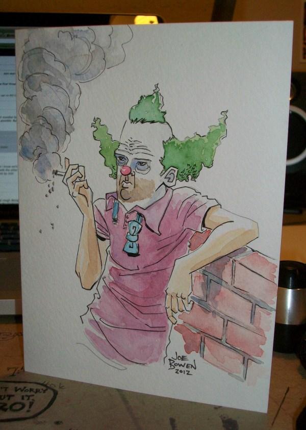 Krusty the Clown by Joe Bowen - The Simpsons fan art