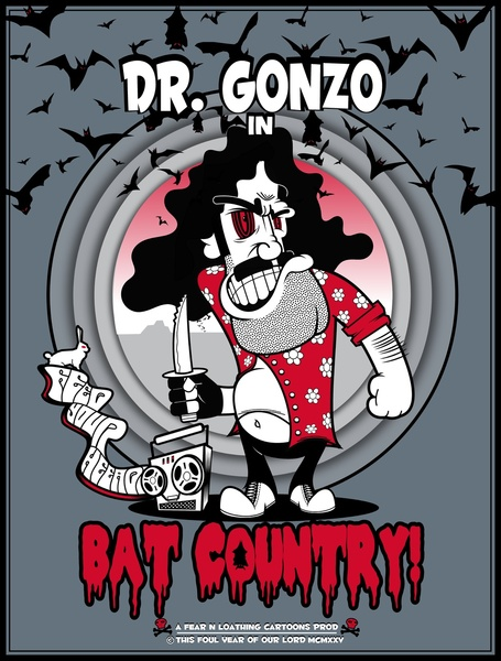 Dr. Gonzo in Bat Country! - Fear and Loathing in Las Vegas 1925 Cartoon
