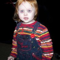 Creepy Kid in Chucky Costume [Child&#039;s Play Cosplay]