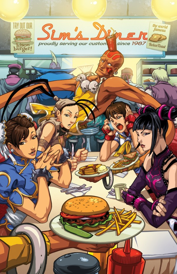 Street Fighter 25th Anniversary Diner - Gaming Fan Art