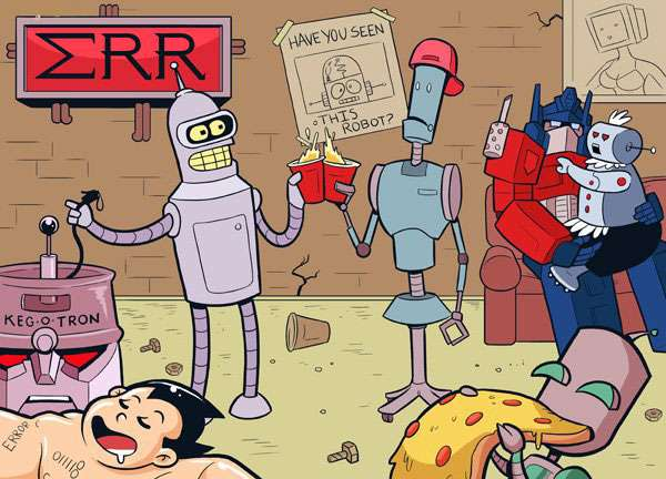 Bender, Futurama, Helper, Venture Bros, Optimus Prime, transformers, Rosie the robot, astro boy