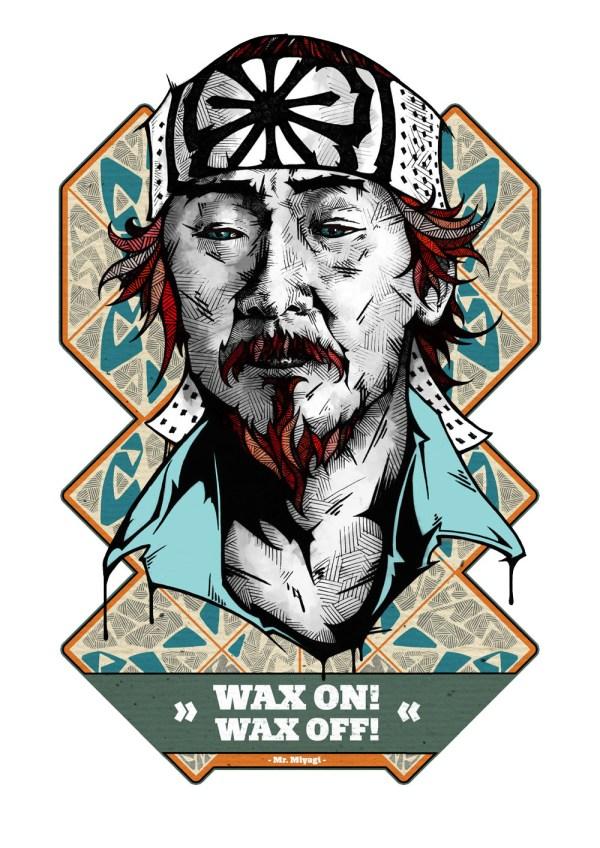 Wan on! Wax off! - Mr. Miyagi - Karate Kid - Pat Morita