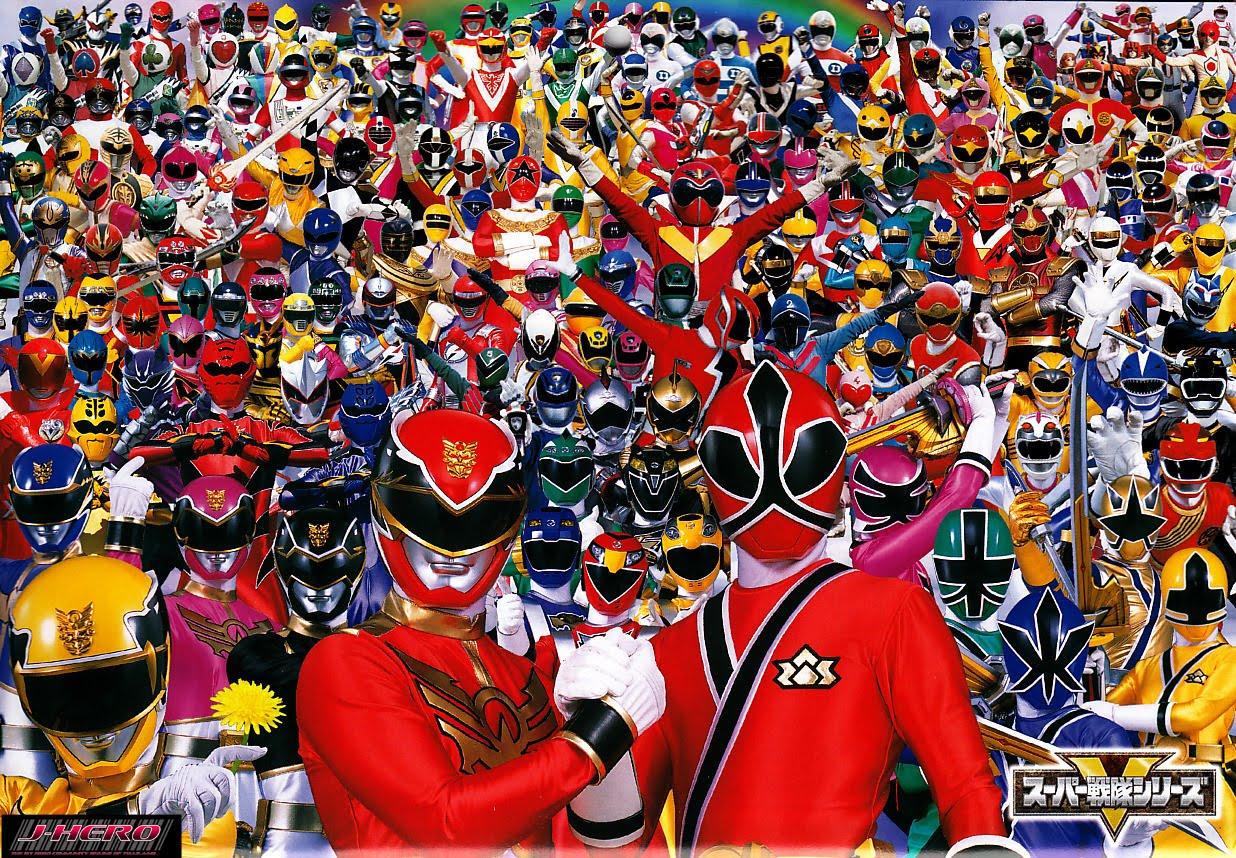 All Super Sentai Series Openings 1975 2012 Power Rangers