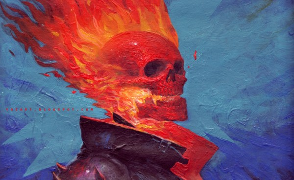 Ghost Rider Art by YOz - Johann Bodin, Marvel Comics, Comic Books, Artwork, Painting