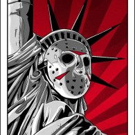 Jason Voorhees x Statue of Liberty - Friday the 13th, Hockey Mask, New York, Horror, Art