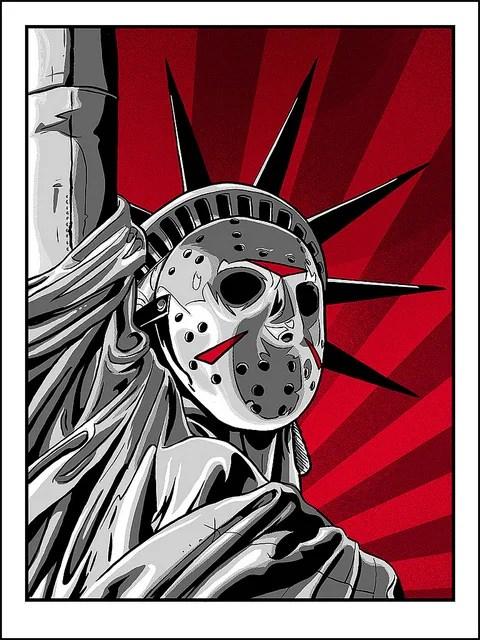 Jason Voorhees x Statue of Liberty - Friday the 13th, Hockey Mask, New York, Horror, Art