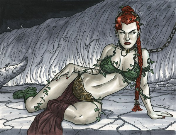 Princess Ivy by ~quin-ones - Star Wars, Batman, Poison Ivy, Slave Leia