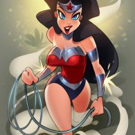 Cartoony Wonder Woman Art by Reinaldo Quintero - DC Comics, Fanart, Illustration