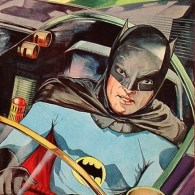 Vintage Japanese Batman Art inspired by the 1960s TV Show Starring Adam West