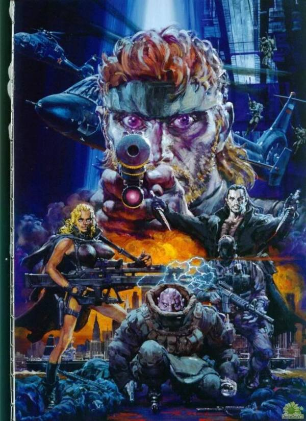 Metal Gear Solid 2 Artwork by Noriyoshi Ohrai - Video Games, Illustration