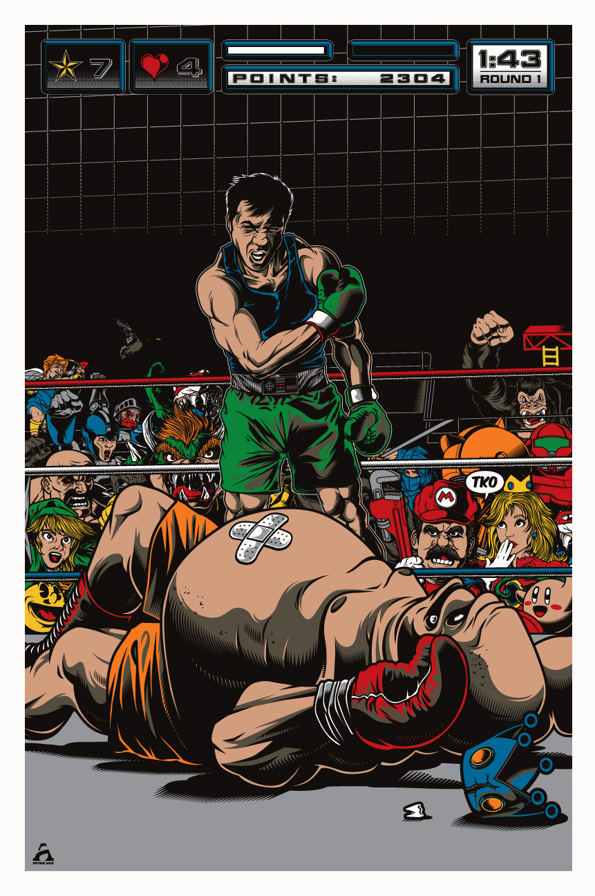 Punch-Out!! FanArt by ~APetrie74 - Nintendo, little mac, king hippo