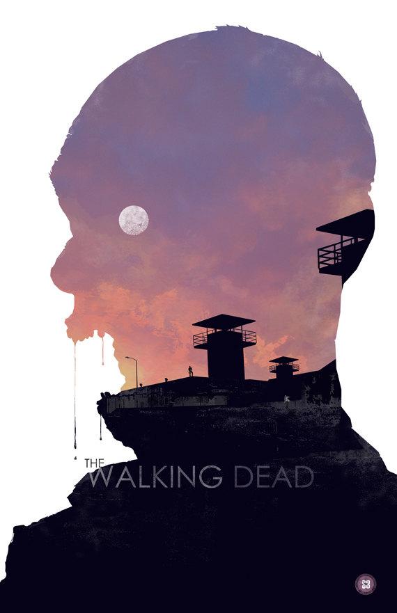 Walking Dead Season 3 Poster by Duke Dastardly - Zombies, TV, Art