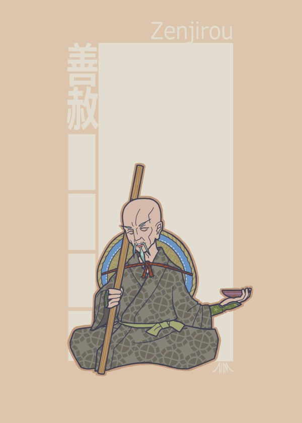 Jidaigeki X-Men - Professor X by genesischant - Samurai Period-Drama
