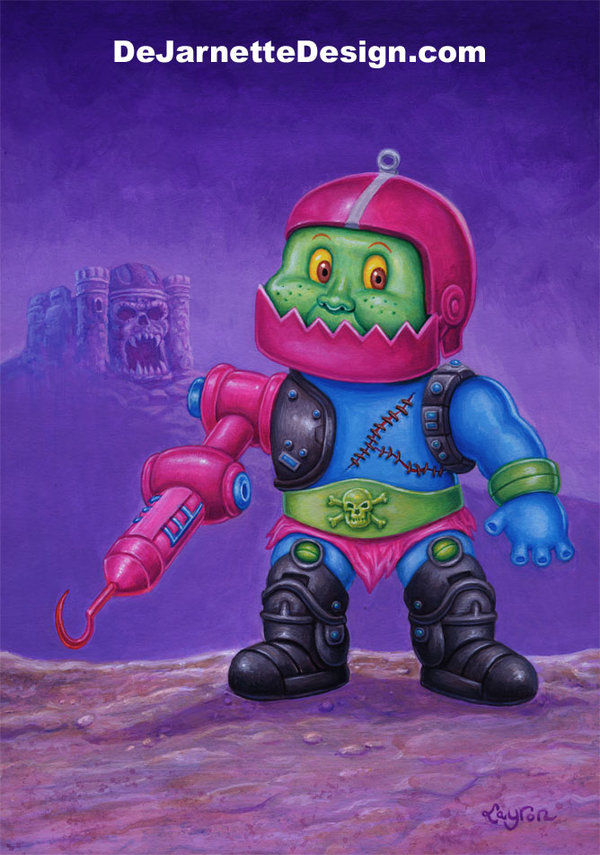 Masters of the Universe x Garbage Pail Kids, Trap Jaw, MOTU, Mashup, He-Man