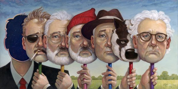 We Are Legion by Aaron Jasinski - Bill Murray, Wes Anderson, Movies, FanArt