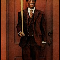 Bill Cosby with a Baseball Bat - Photograph for McCall's by Milton H. Greene