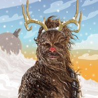 Chewbecca Christmas Card by PJ McQuade - Star Wars Art, Wookiee