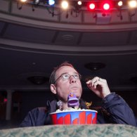Cool Photo of Joel Hodgson with Mini MST3K Bots