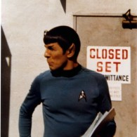 Vintage Behind the Scenes Photos of Leonard Nimoy as Spock - Star Trek