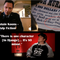 Pulp Fiction Character Reference in Django Unchained