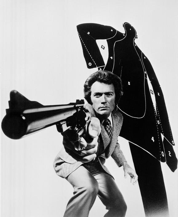 Clint Eastwood as Dirty Harry in Magnum Force. Photo by Philippe Halsman (1973)
