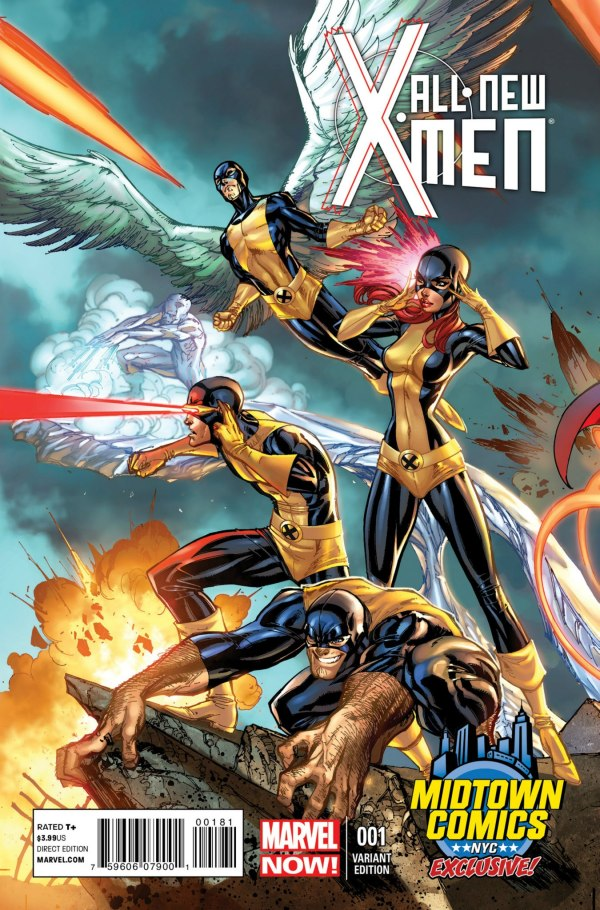 All New X-Men Midtown Exclusive J Scott Campbell Connecting Variant Cover Part 2 of 3