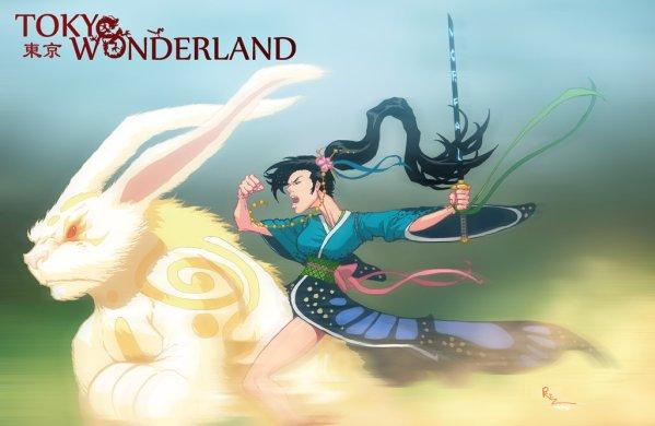 Tokyo Wonderland - Alice and the White Rabbit