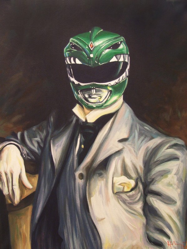 Green Ranger Portrait by Hillary White -- Mighty Morphin Power Rangers