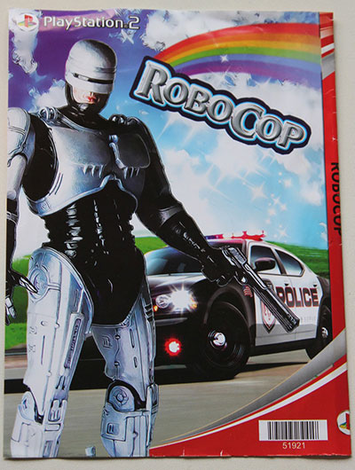 African Boogleg RoboCop Video Game Complete with Sparkly Rainbow - pirated playstation ps2 hacks