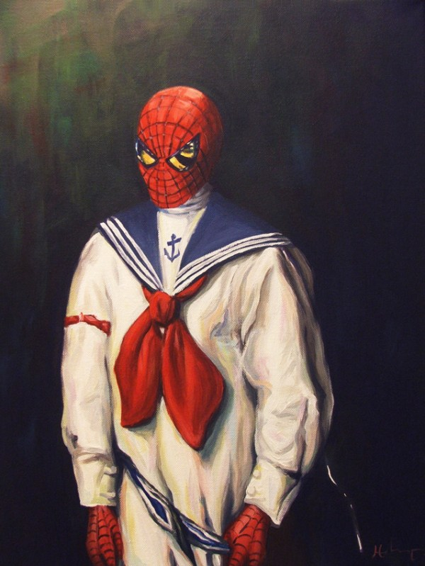 Spider-Man Portrait by Hillary White -- Marvel Comics