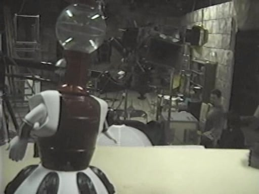 MST3K Last Dance - Tom Servo looks over an empty set