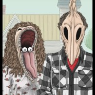 Beetlejuice x American Gothic Mashup by Dick Starr