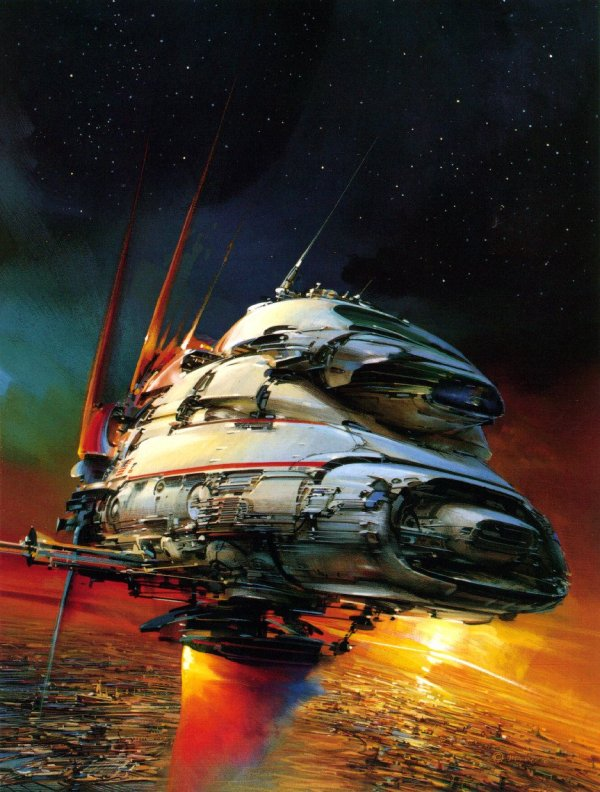Science Fiction Illustrations by John Berkey - Sci-Fi Space Art (5)