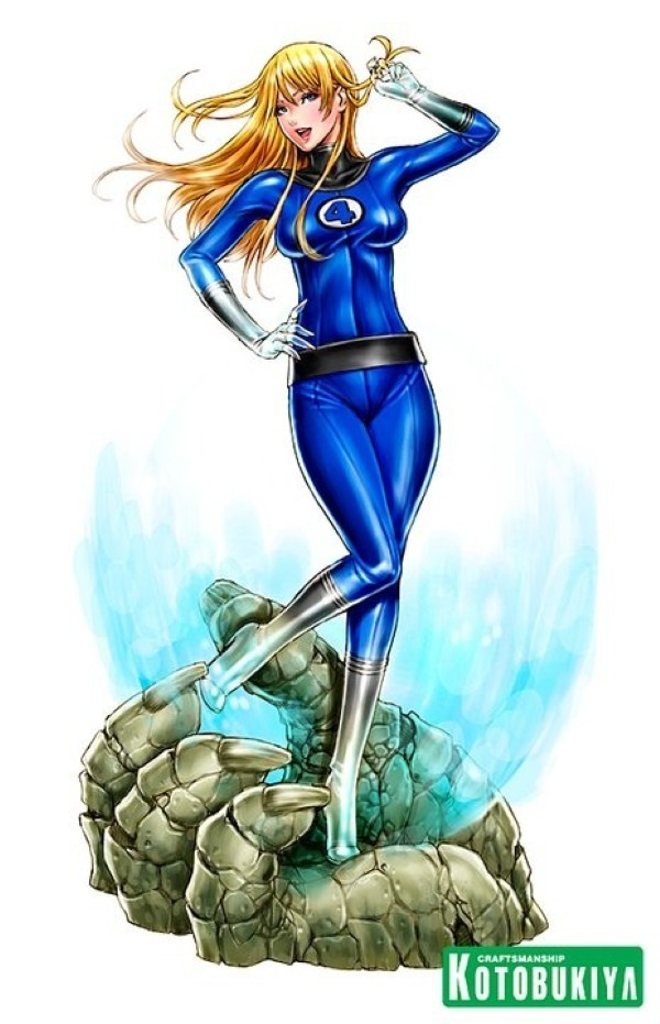 Bishoujo Style Invisible Woman by Shunya Yamashita - Marvel Comics, Fantastic Four, Sue Storm, Anime, Manga