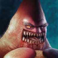 Creepy Realistic Patrick Star by Isaac Montoya Carrasco