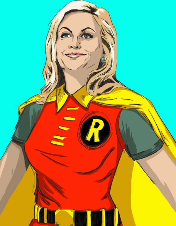 Leslie Knope as Robin - Parks and Recreation, Justice League, Amy Poehler