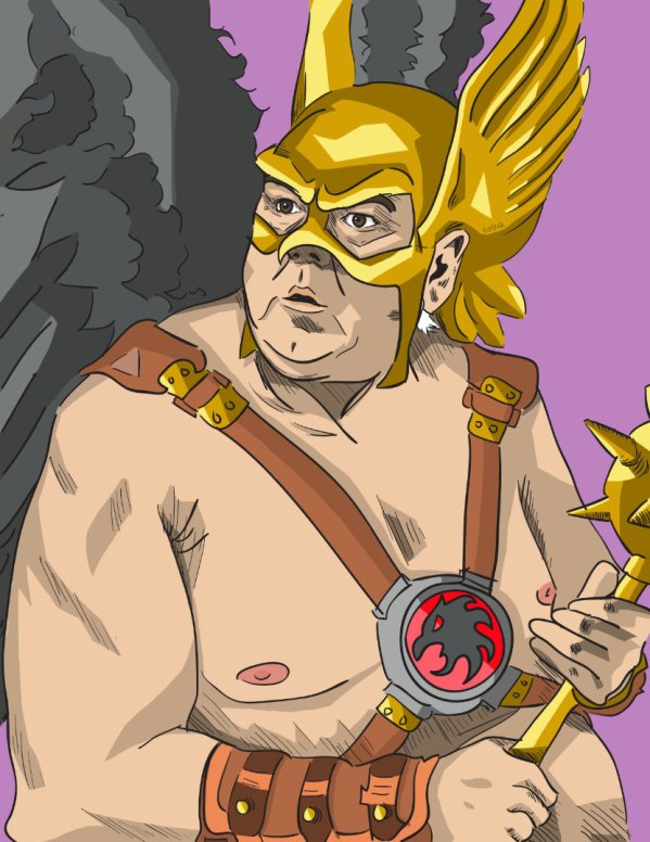 Jerry Gergich as Hawkman - Parks and Recreation, Justice League, Jim O'Heir