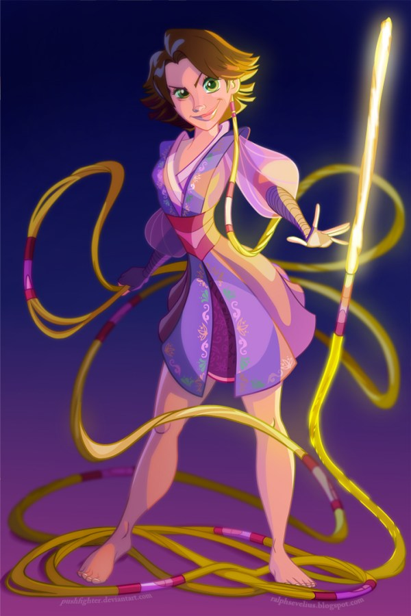 Padawan Rapunzel by Pushfighter - Disney Star Wars Princesses