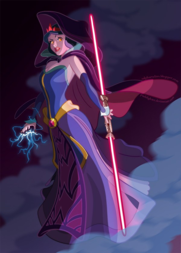 Sith Snow White by Pushfighter - Disney Star Wars Princesses