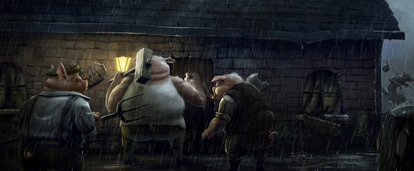 Three Little Pigs 14 Years Later by Lloyd Allan - Reimagined Fairy Tale Illustrations