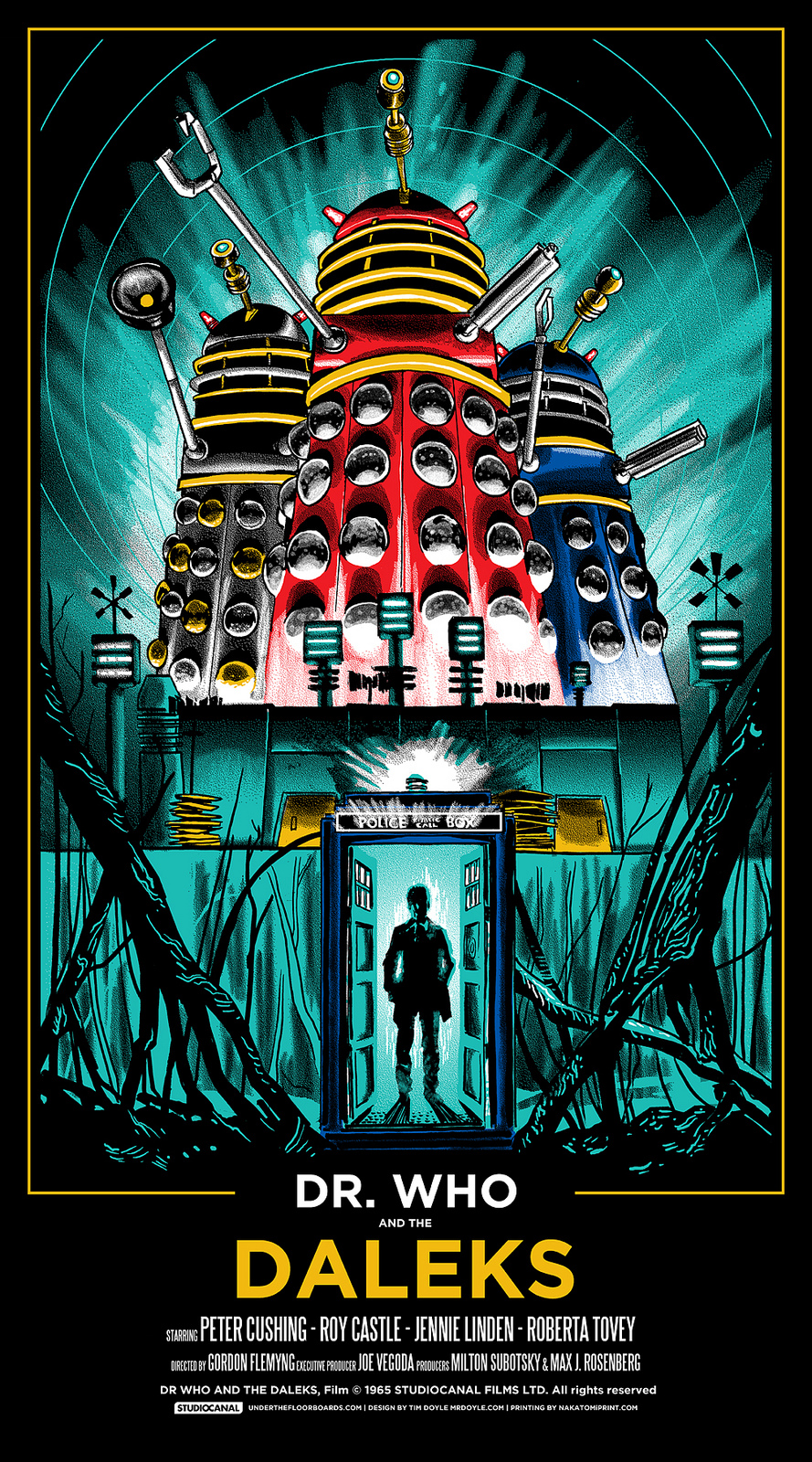 Corey Feldman And Michael Jackson Wikipedia >> Poster: Dr. Who and The Daleks (1965) Starring Peter Cushing